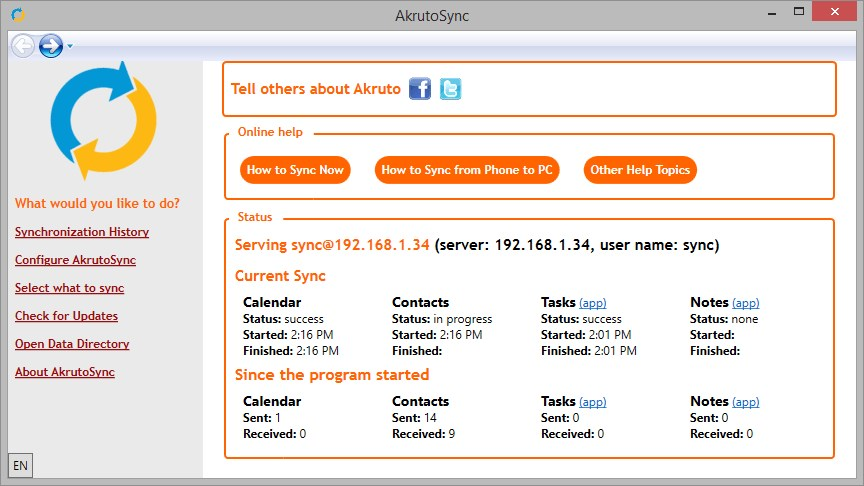 AkrutoSync screenshot 0