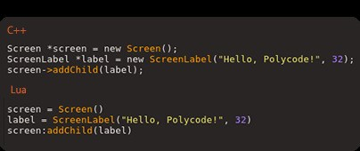 Polycode screenshot 0