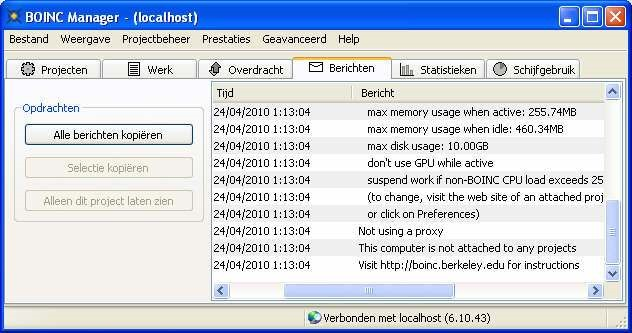 BOINC screenshot 1