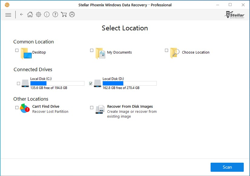 Stellar Phoenix Windows Data Recovery screenshot 1