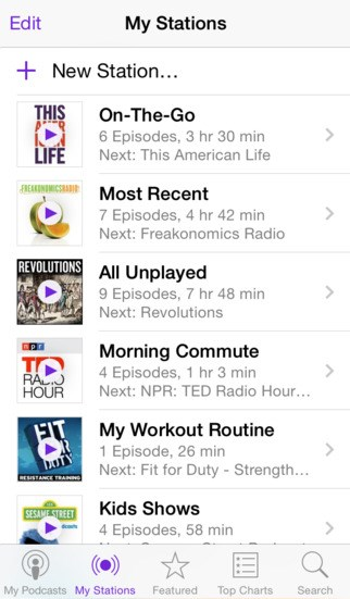 Apple Podcasts screenshot 1