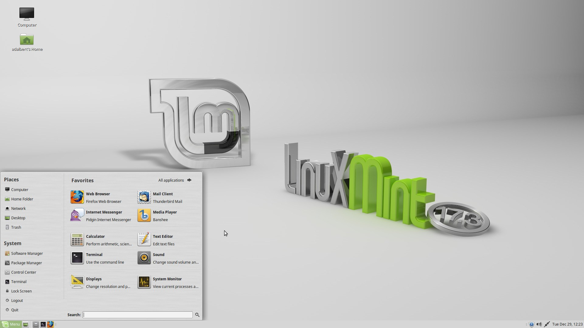 Linux Mint screenshot 1