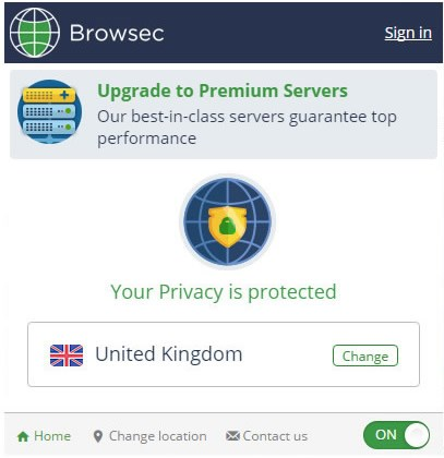 Browsec screenshot 0