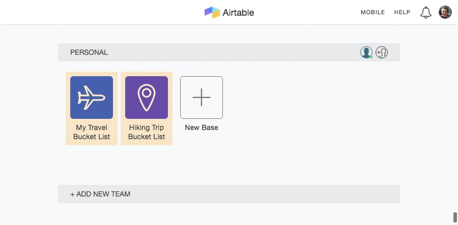 Airtable screenshot 1