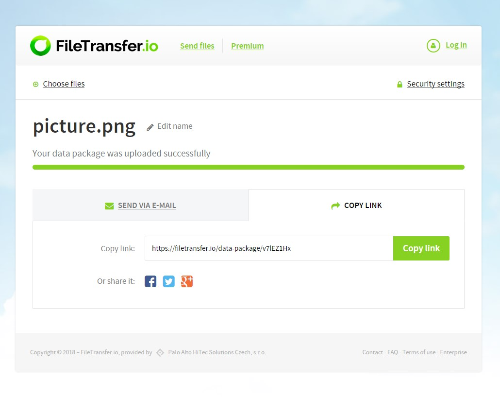 FileTransfer.io screenshot 0