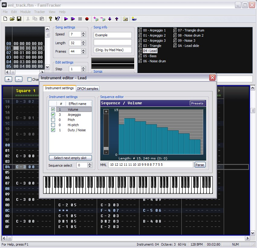 FamiTracker screenshot 1