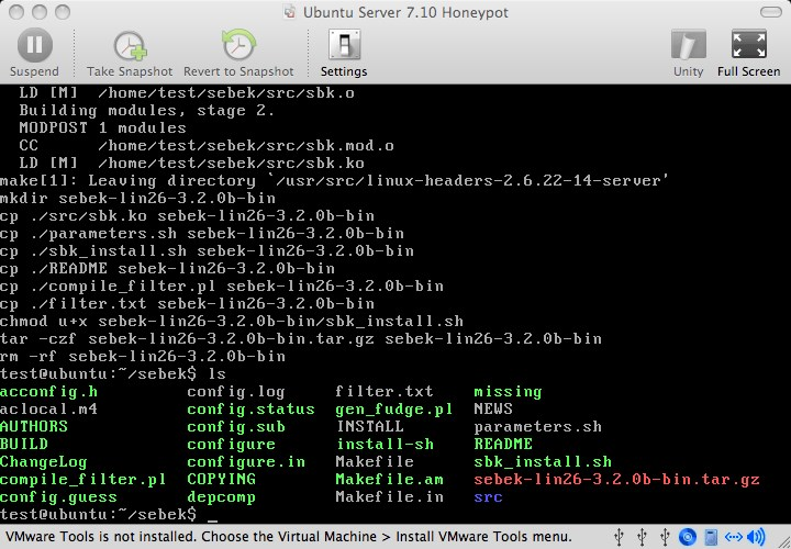 Ubuntu Server screenshot 0