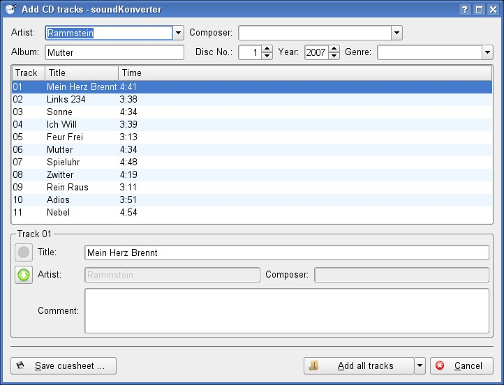 soundKonverter screenshot 1