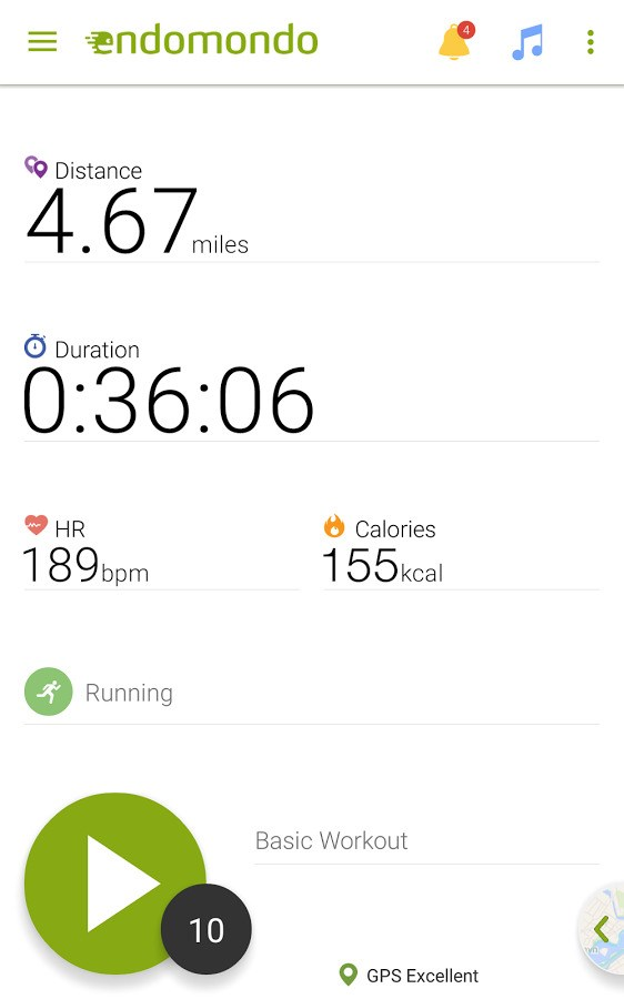 Endomondo screenshot 0