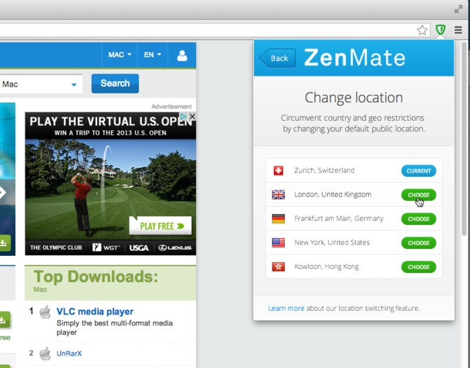 ZenMate screenshot 1