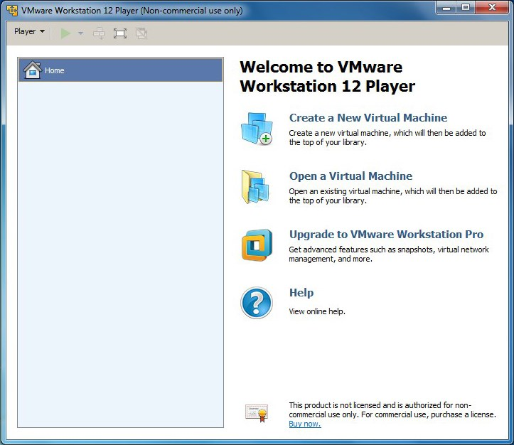 VMware Workstation Player screenshot 0