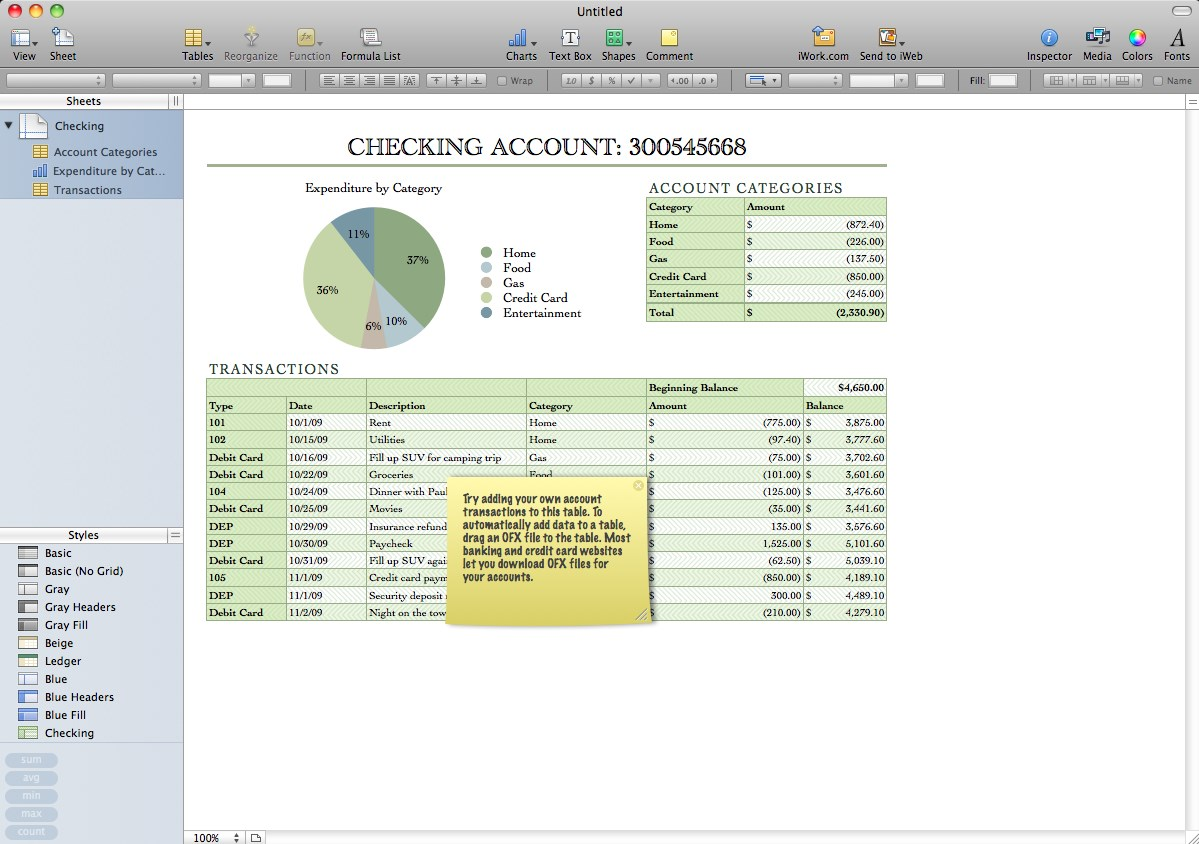 Apple iWork screenshot 1