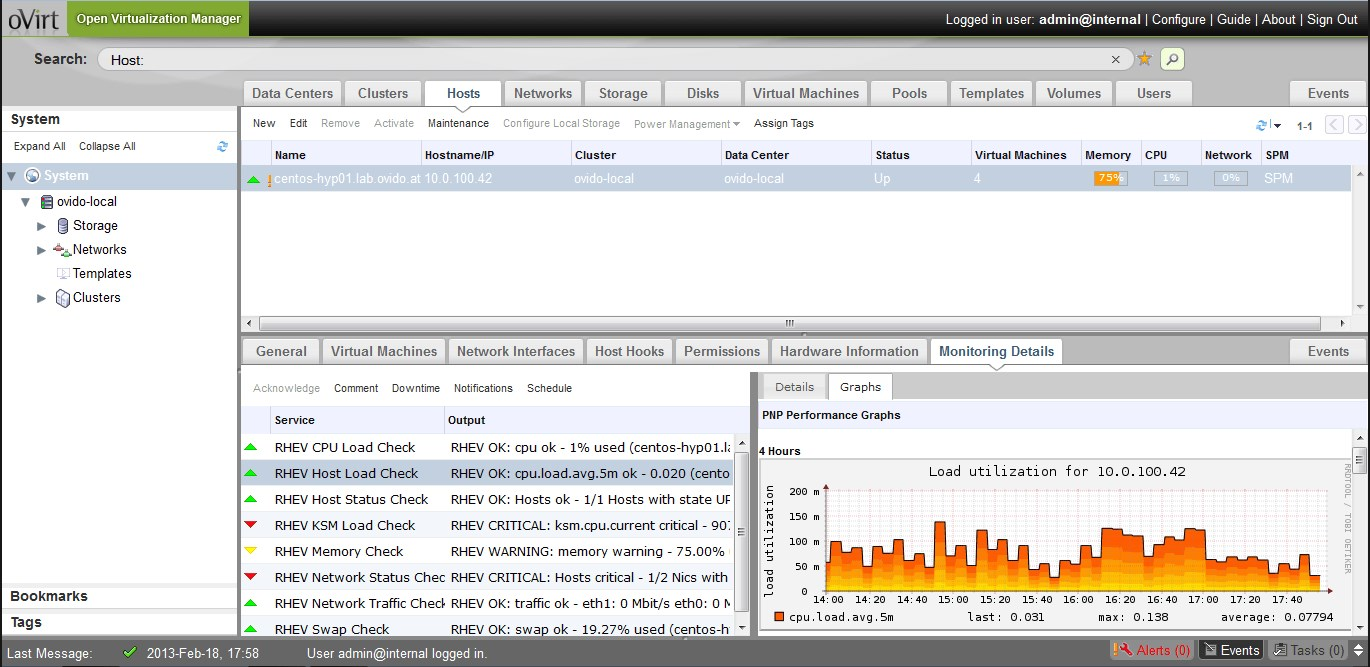 oVirt screenshot 1