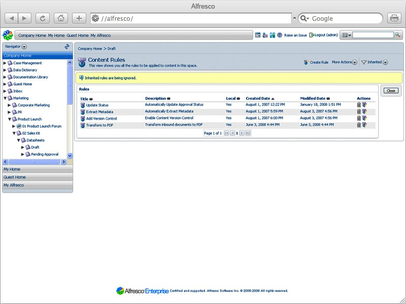Alfresco Community Edition screenshot 0