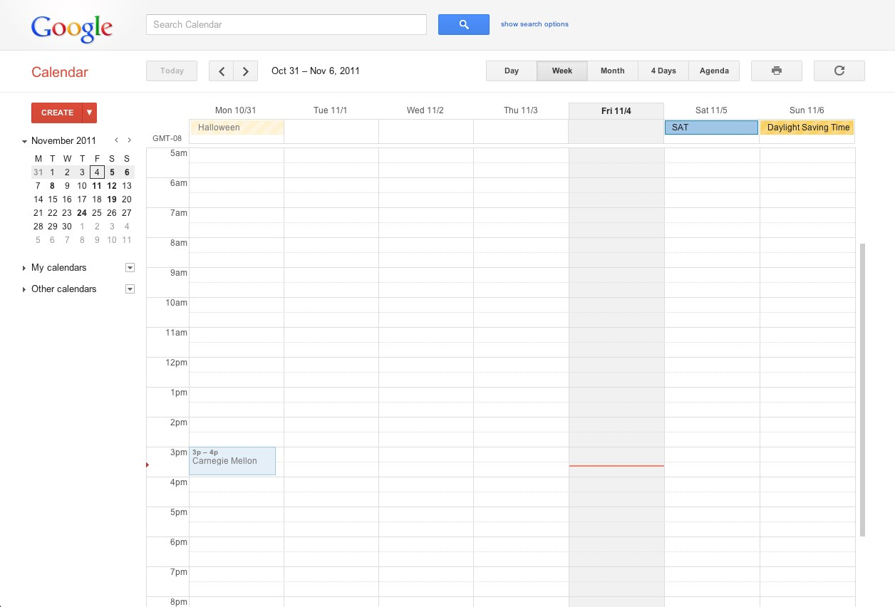 Google Calendar screenshot 0