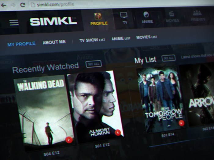 Simkl TV Tracker screenshot 1