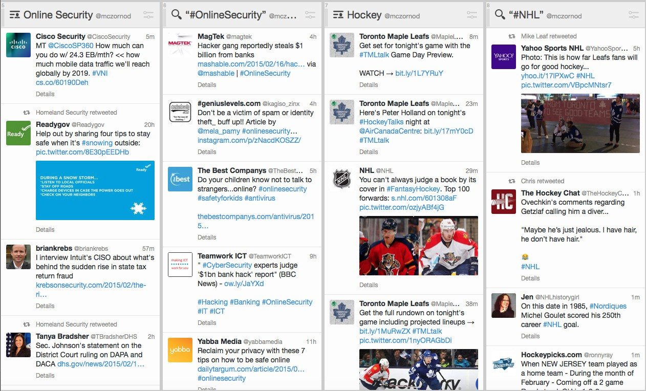 TweetDeck screenshot 2