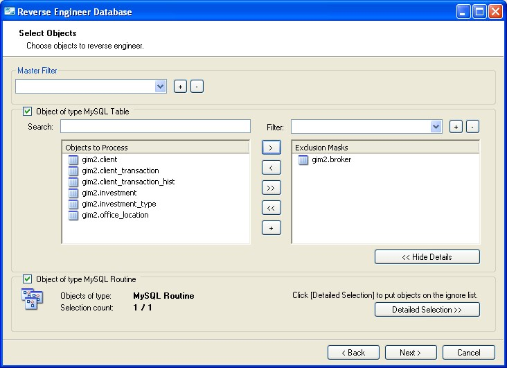 MySQL Workbench screenshot 1