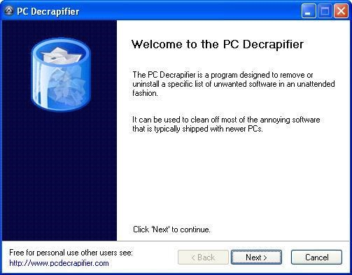 PC Decrapifier screenshot 0