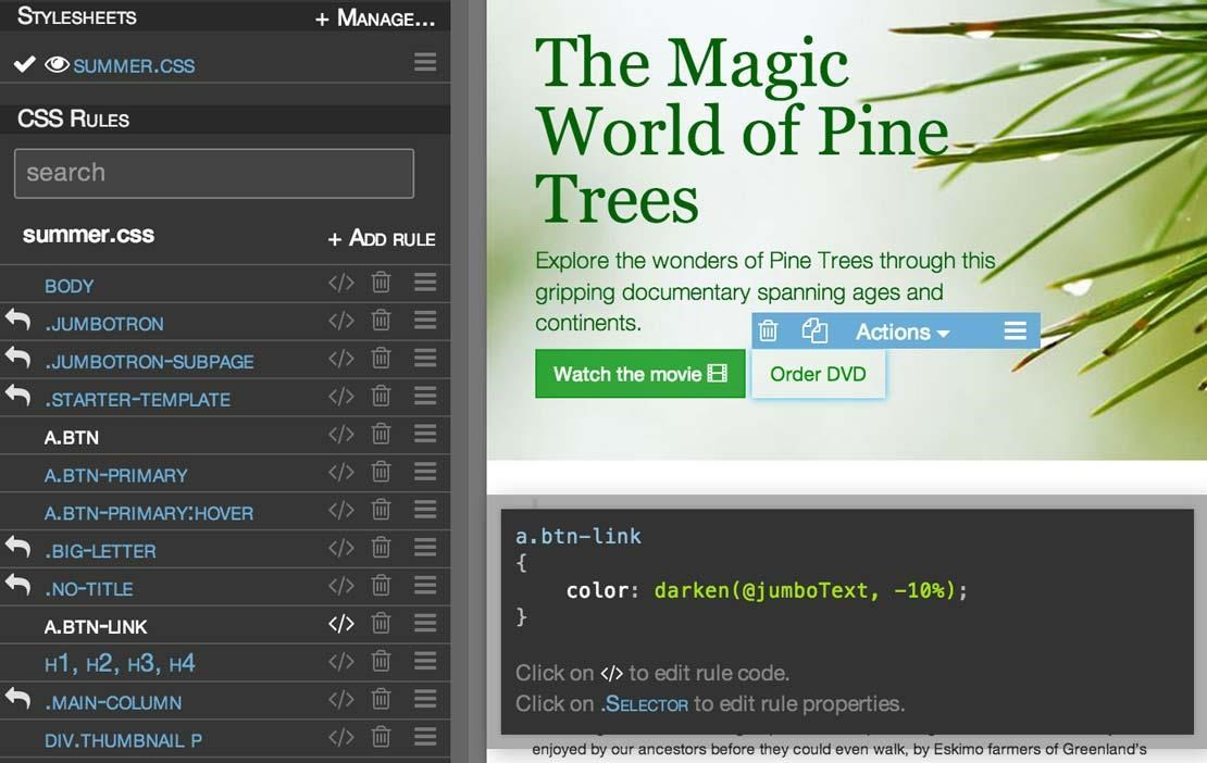 Pinegrow Web Editor screenshot 1