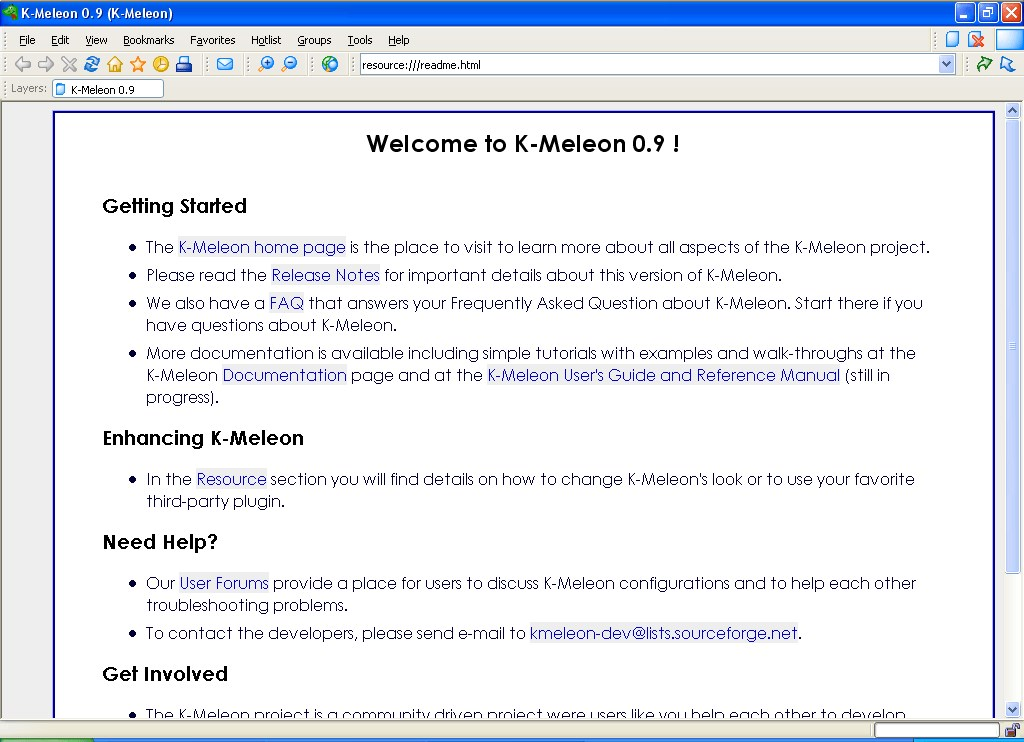 K-Meleon screenshot 0