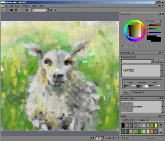 QAquarelle screenshot 1