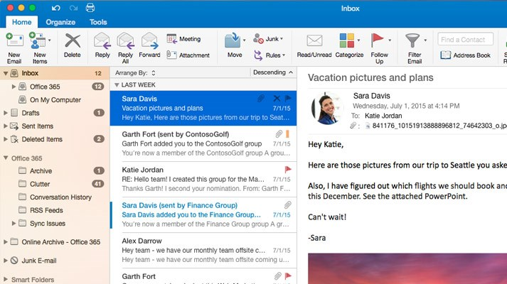 Microsoft Office Outlook screenshot 2