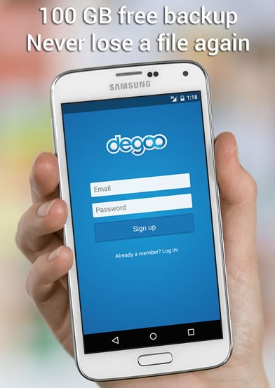 Degoo screenshot 1