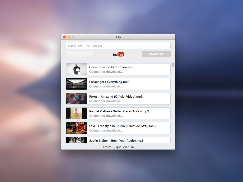 Airy YouTube Downloader screenshot 0