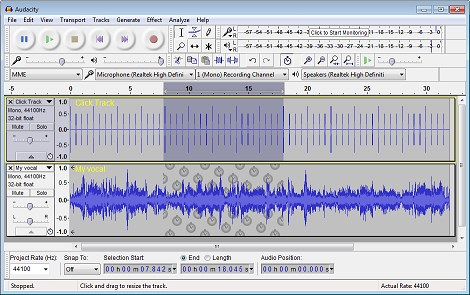 Audacity screenshot 0