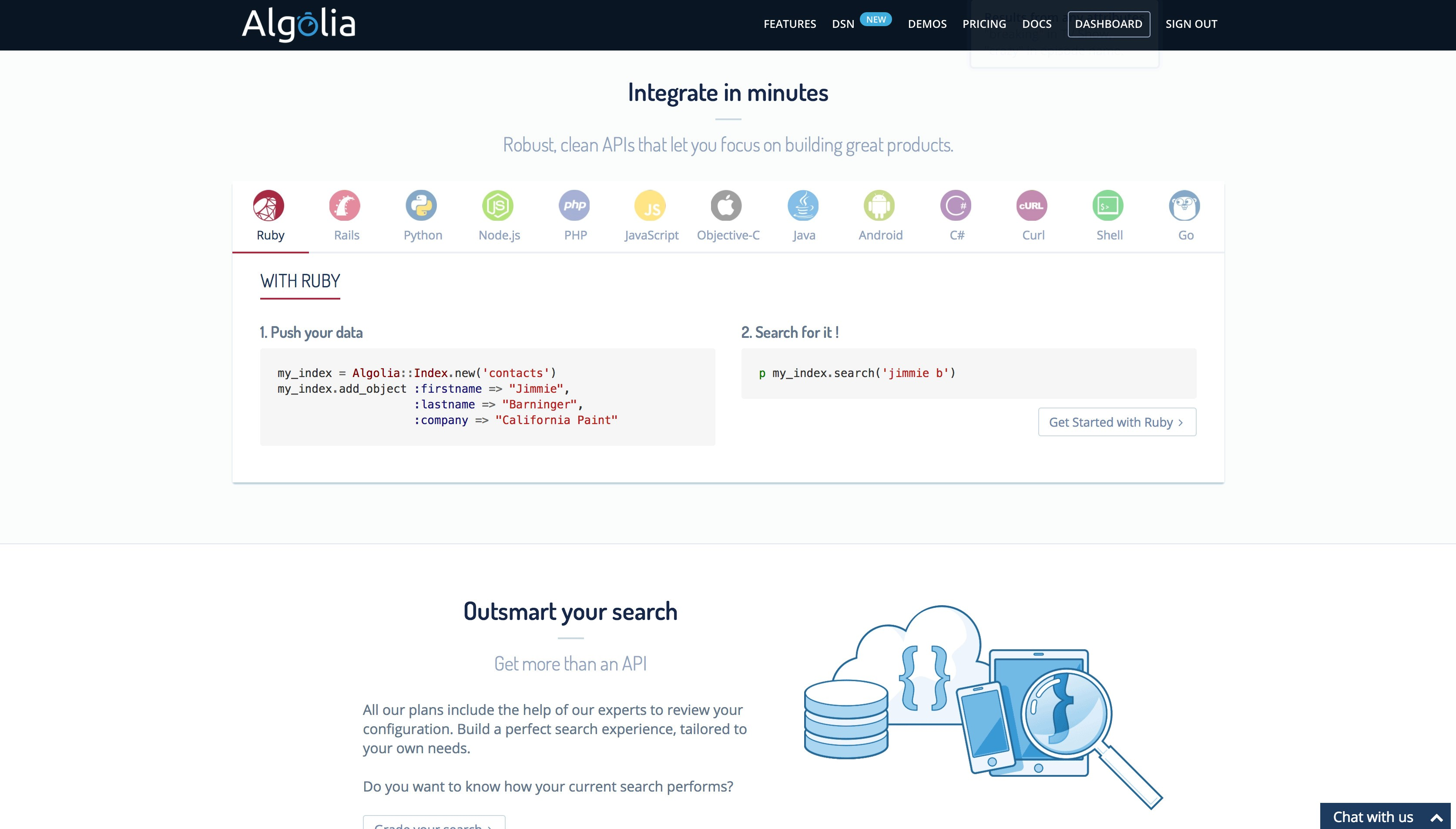 Algolia screenshot 2
