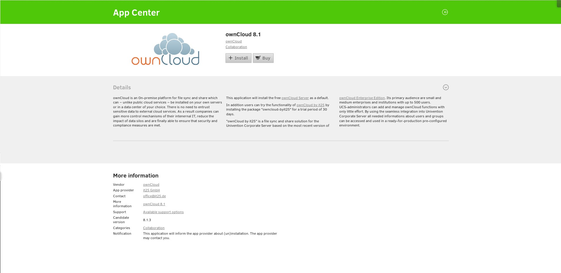 Univention Corporate Server screenshot 2