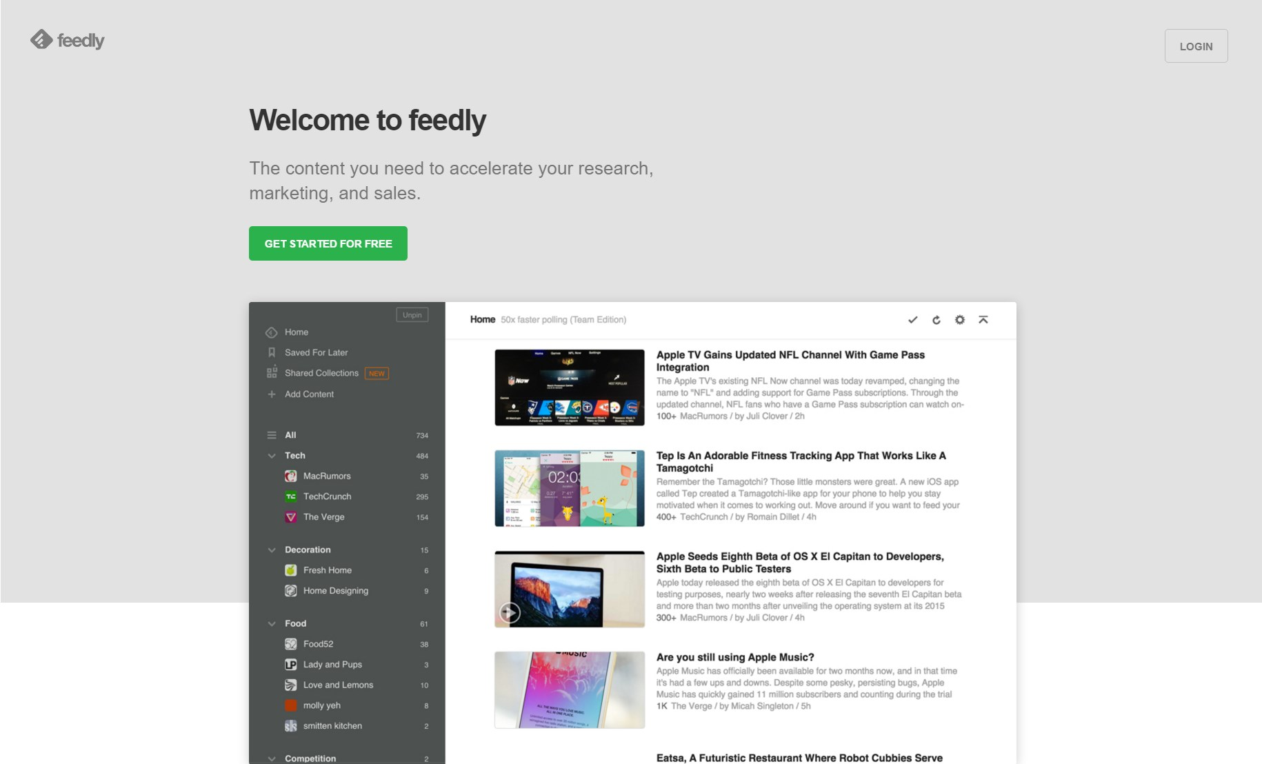 Feedly screenshot 0