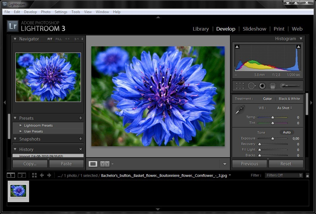 Adobe Photoshop Lightroom screenshot 1