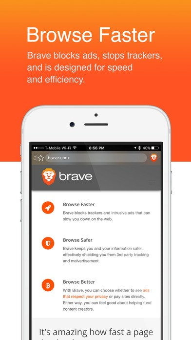 Brave screenshot 1