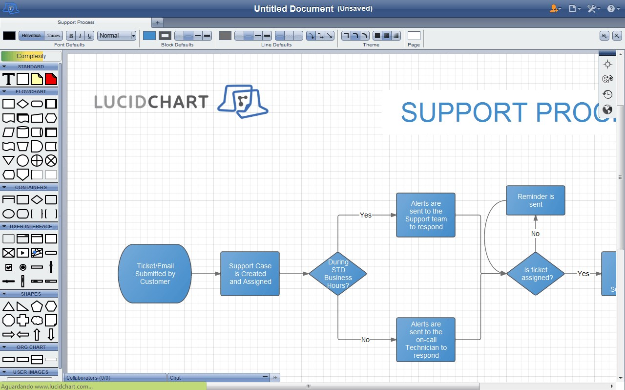Lucidchart screenshot 0