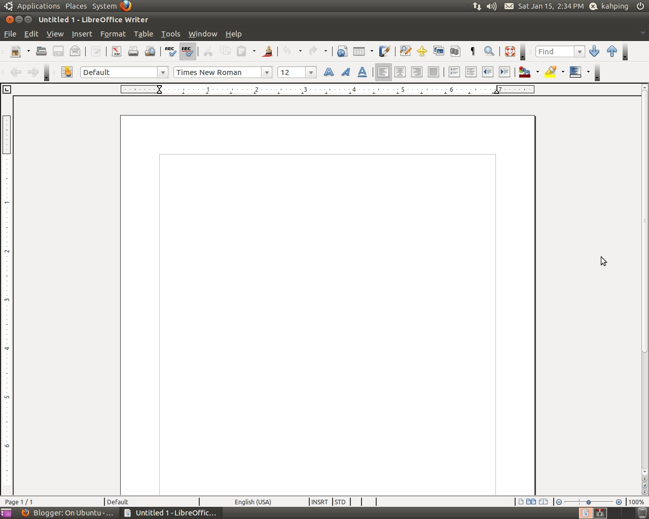 LibreOffice screenshot 1