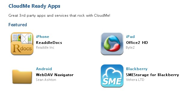 CloudMe screenshot 1