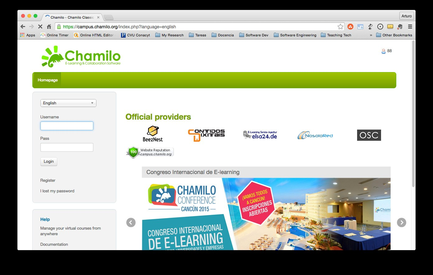 Chamilo screenshot 0