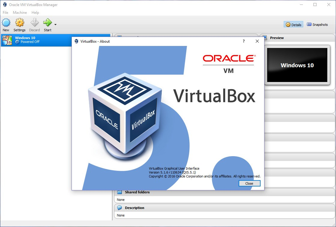 VirtualBox screenshot 1