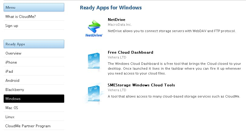 CloudMe screenshot 2