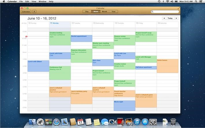 Apple Calendar screenshot 1