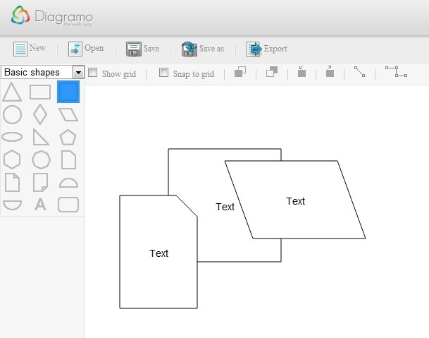Diagramo screenshot 0