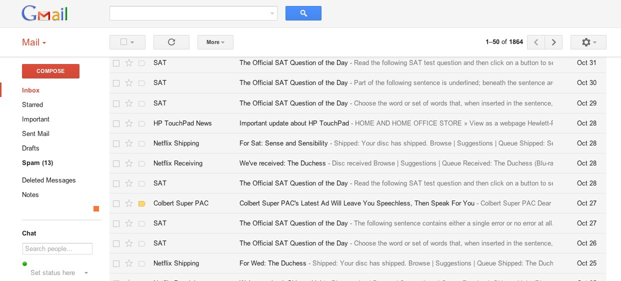 Gmail screenshot 2