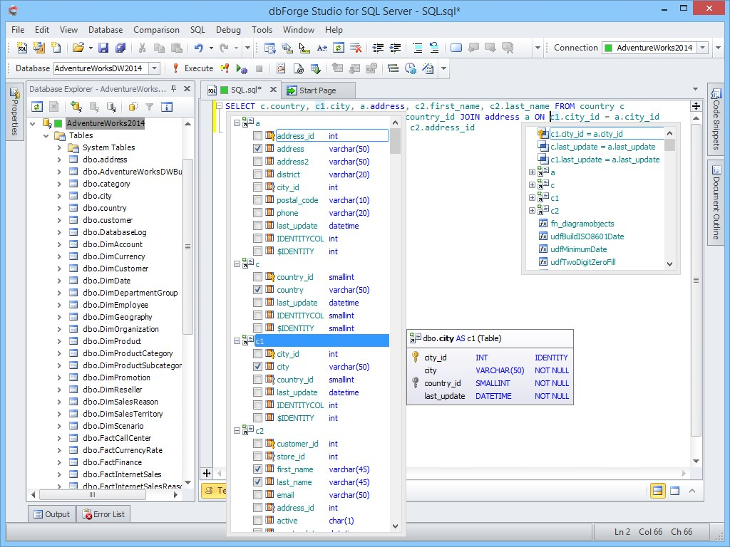 dbForge Studio for SQL Server screenshot 0