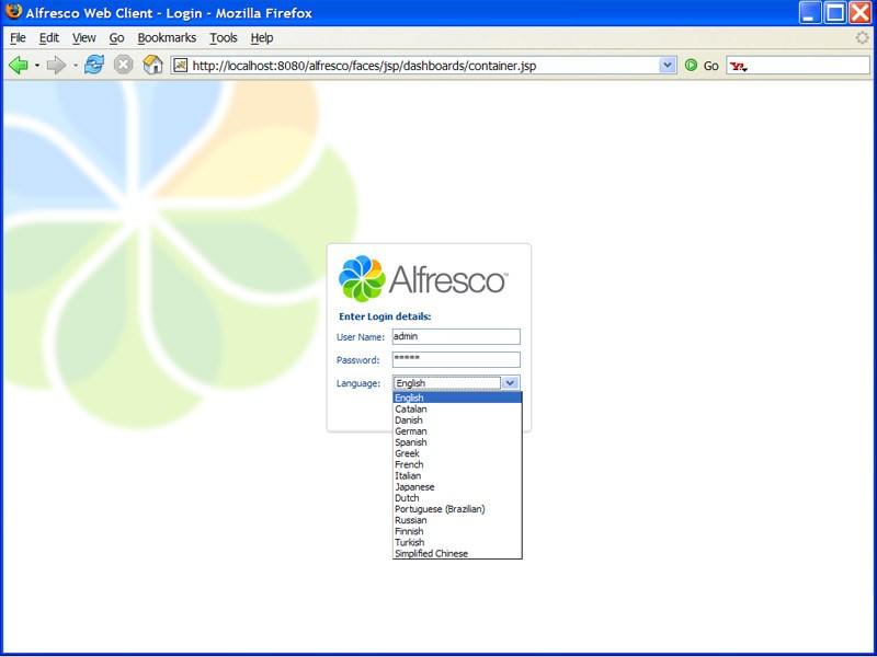 Alfresco Community Edition screenshot 1