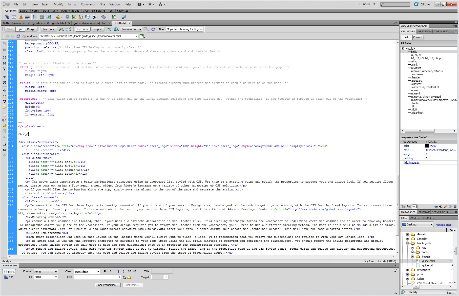 Adobe Dreamweaver screenshot 1