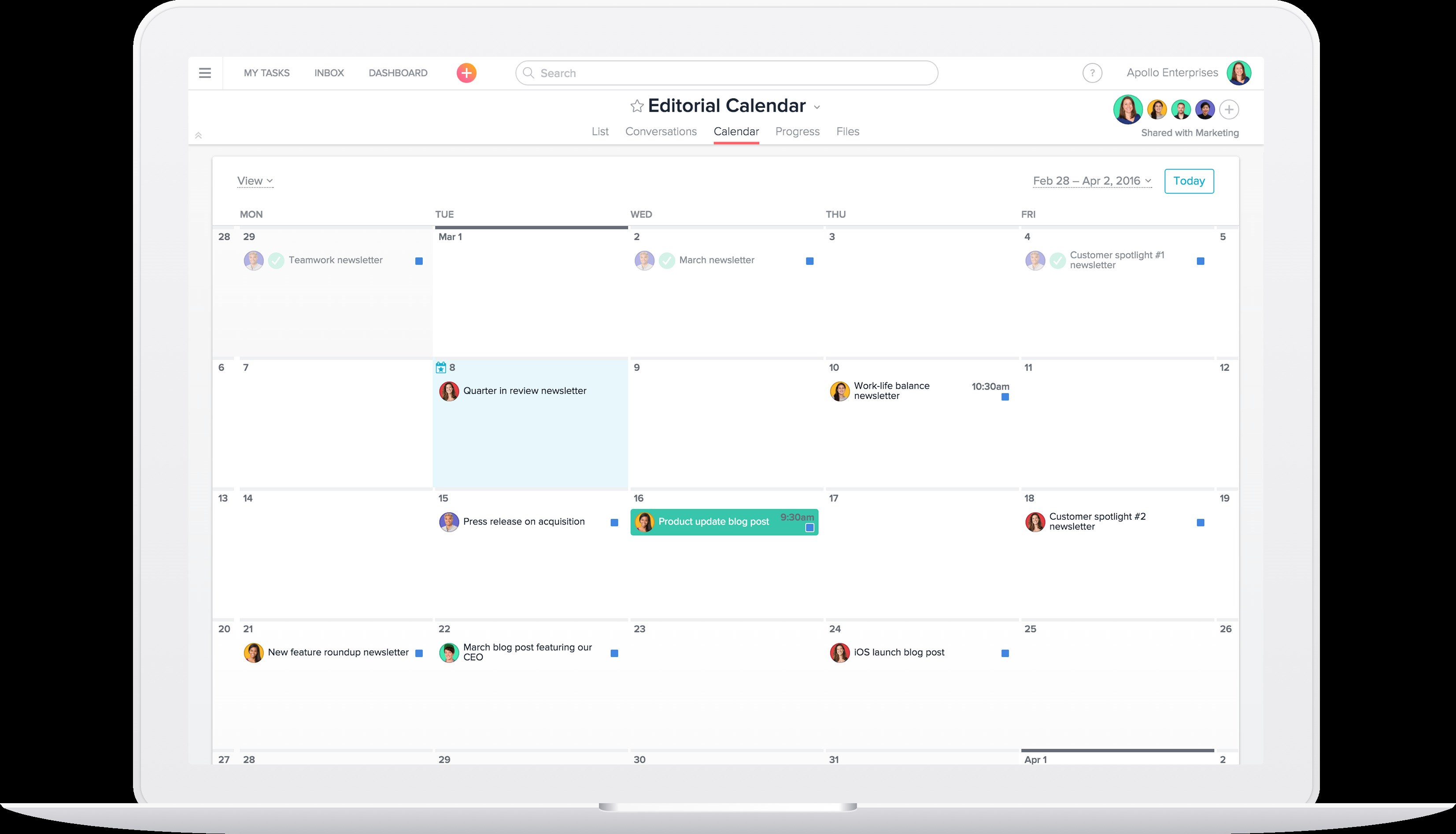 Asana screenshot 1