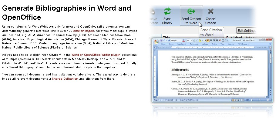 Mendeley screenshot 0