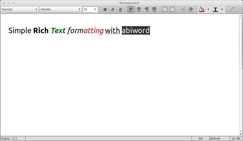 AbiWord screenshot 2